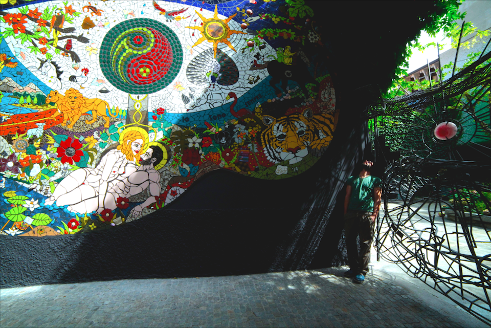 The 'Garden of Eden' Mosaic by Orodè Deoro at Studio Fabio Novembre, Milan, Italy. July 2014 1