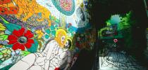 The 'Garden of Eden' Mosaic by Orodè Deoro at Studio Fabio Novembre, Milan, Italy. July 2014 2