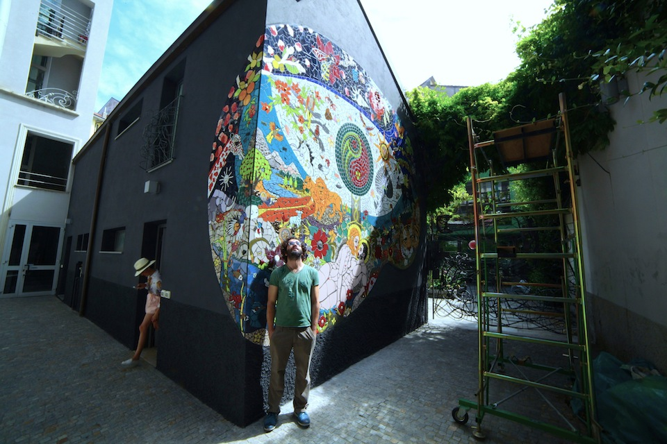 The 'Garden of Eden' Mosaic by Orodè Deoro at Studio Fabio Novembre, Milan, Italy. July 2014 3