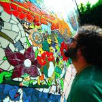 The 'Garden of Eden' Mosaic by Orodè Deoro at Studio Fabio Novembre, Milan, Italy. July 2014 5