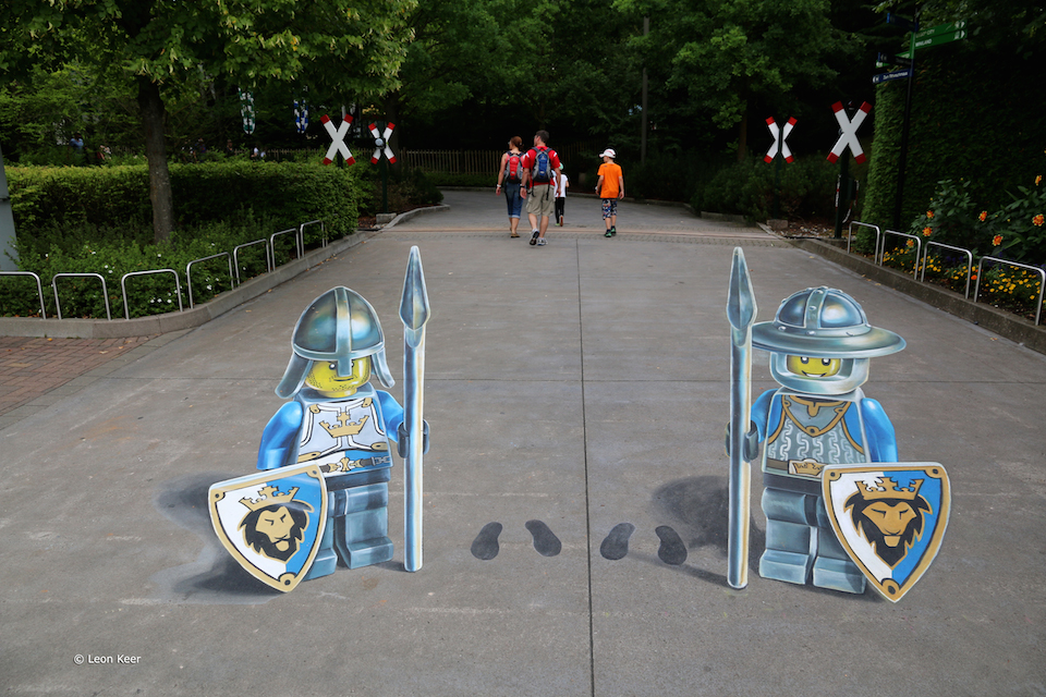 3D Street Art by Leon Keer at Legoland 2014 4