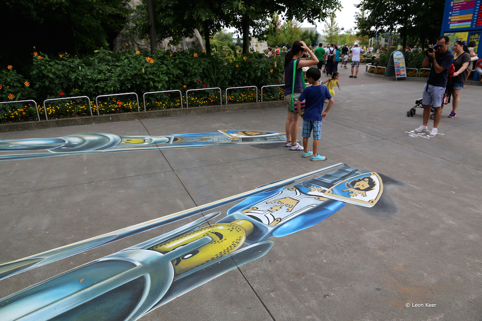 3D Street Art by Leon Keer at Legoland 2014 5