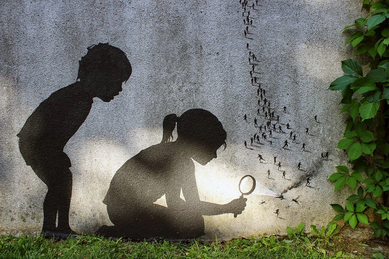 Street Art by Pejac - In Paris, France