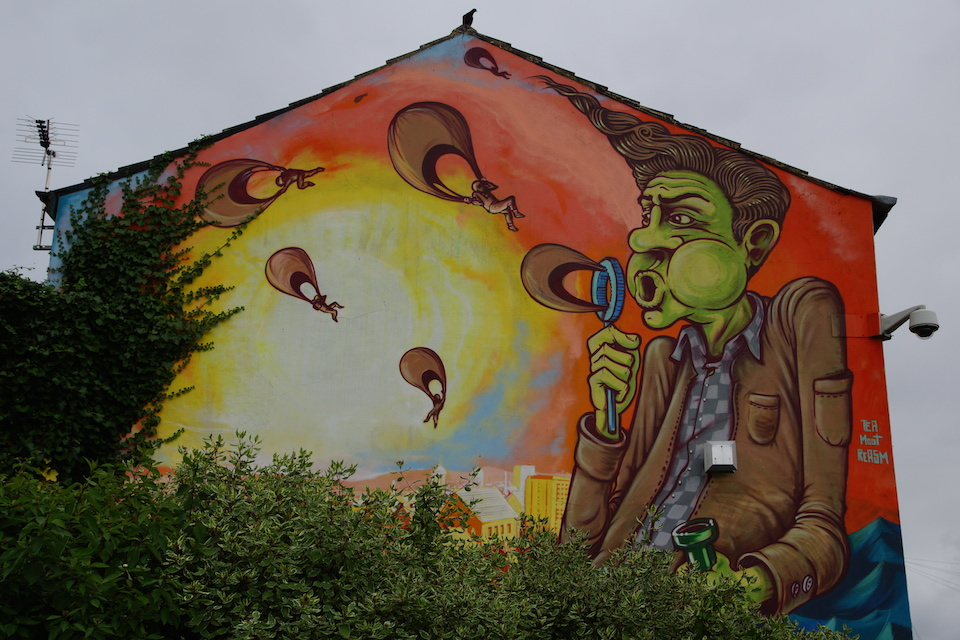 Street Art by Tea, Moot and Reasm in Preston, England