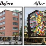 Street Art by Eduardo Kobra in Borås, Sweden 2