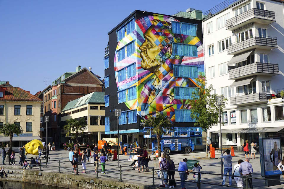 Street Art by Eduardo Kobra in Borås Sweden 3463456
