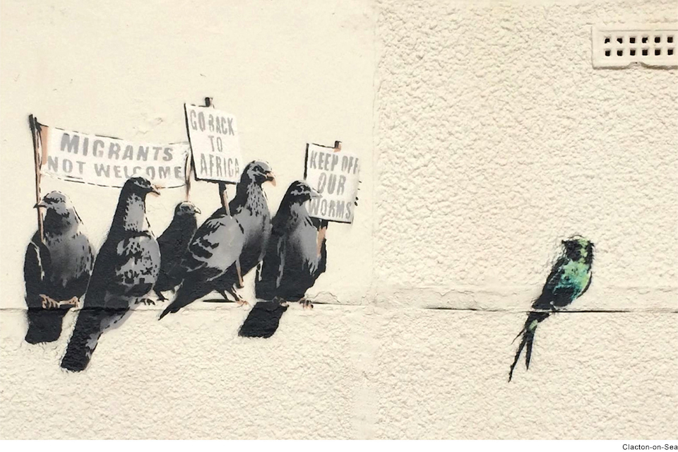 Street Art by Banksy in Clacton-on-Sea, UK 1