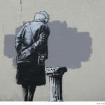 Street Art by Banksy in Folkestone, UK 1