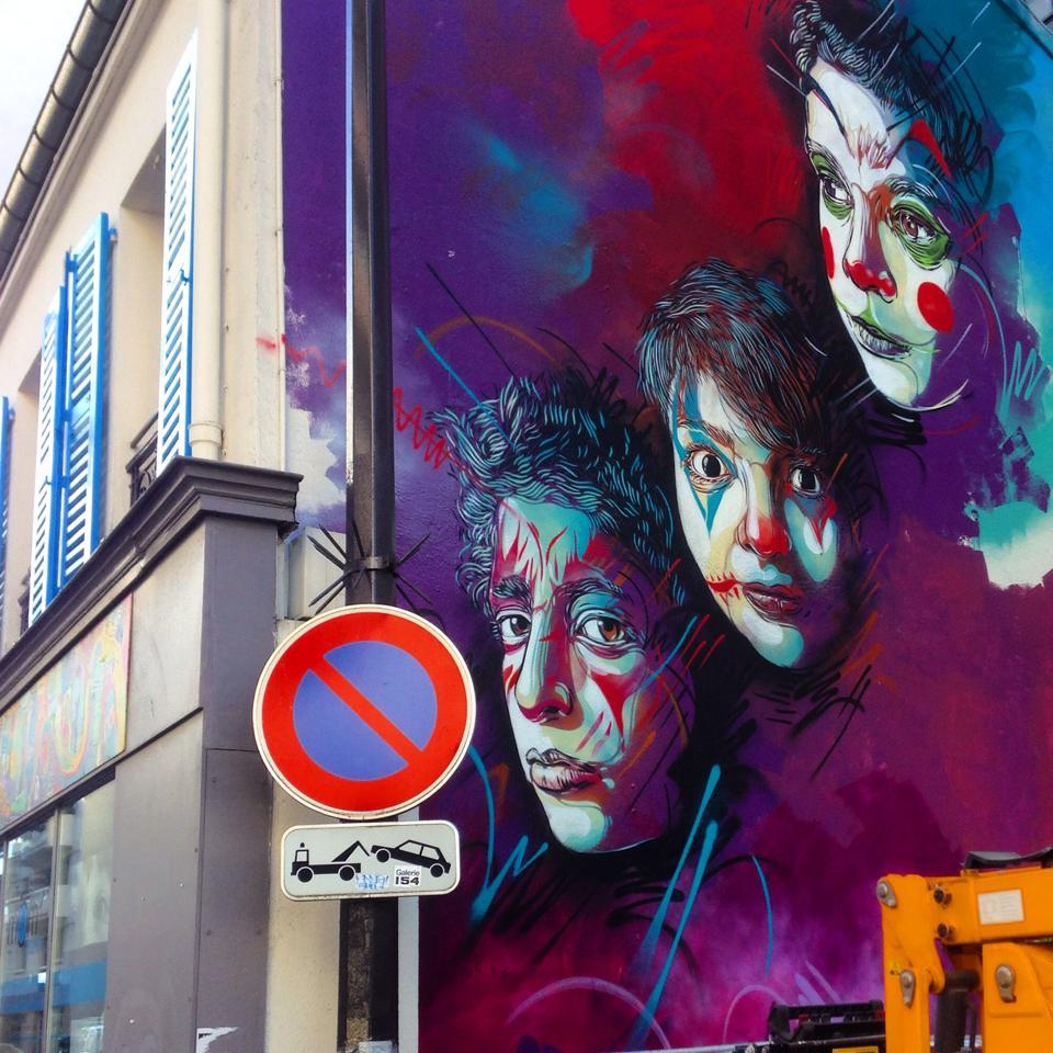 street art utopia we declare the world as our canvas street art by c215 at rue pelleport. Black Bedroom Furniture Sets. Home Design Ideas