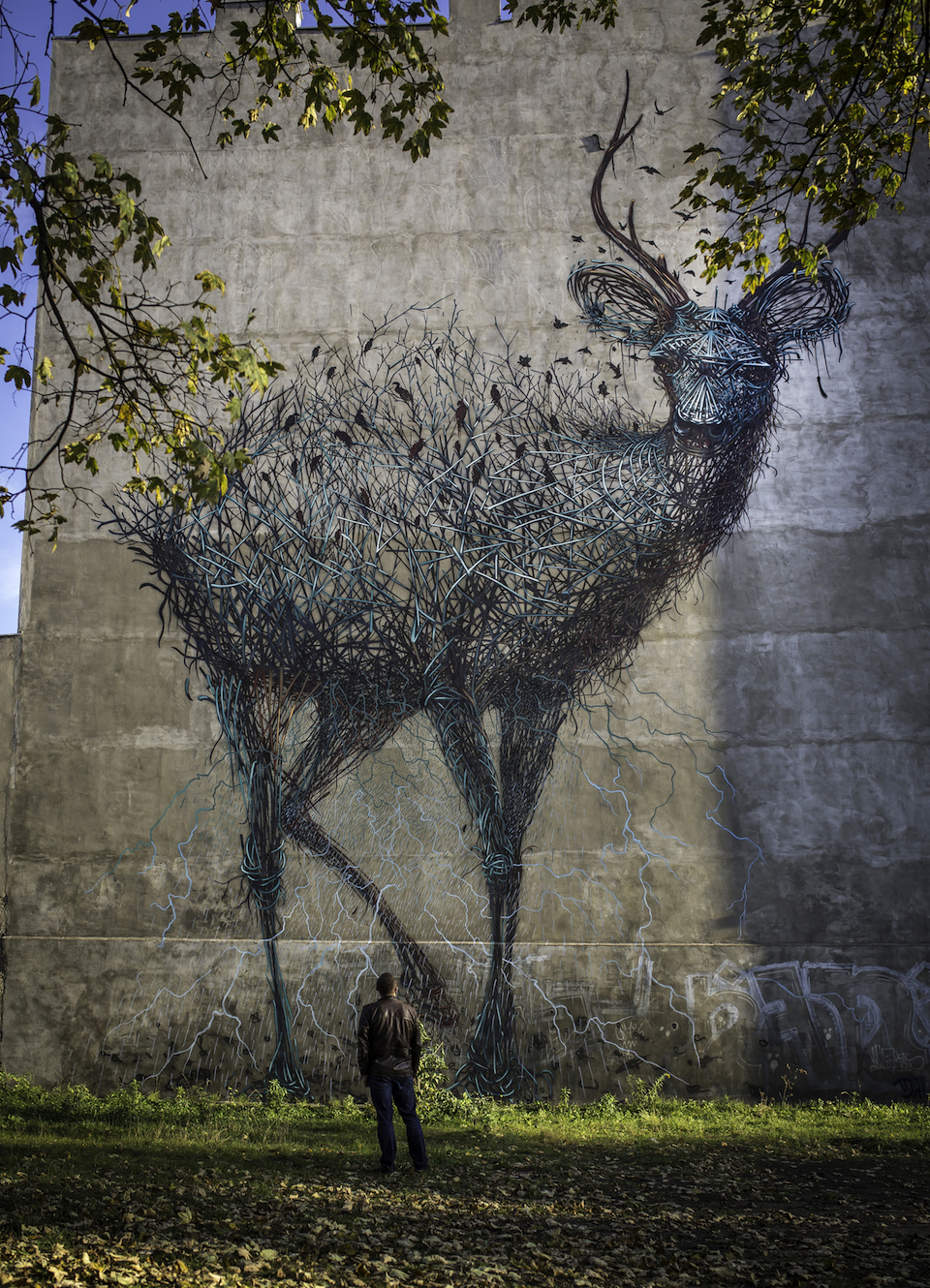 Street Art by DALEAST in Lodz, Poland in for Galeria Urban Forms project 1