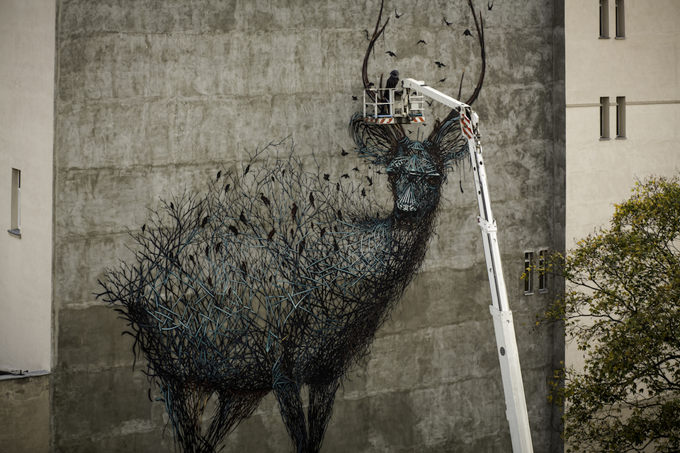 Street Art by DALEAST in Lodz, Poland in for Galeria Urban Forms project 11