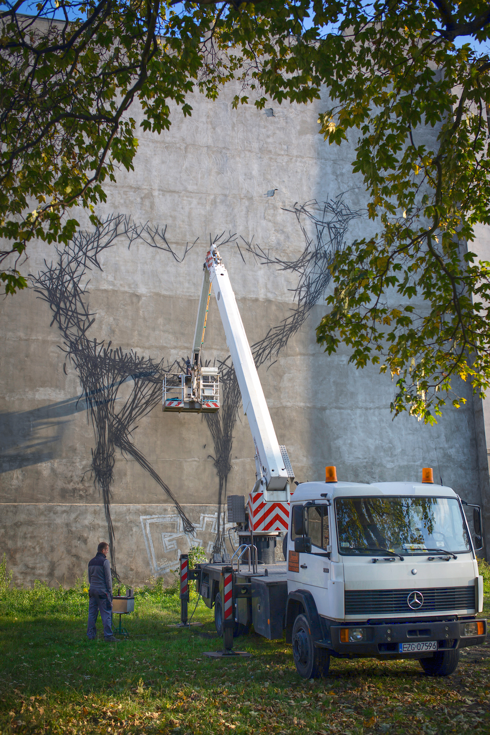 Street Art by DALEAST in Lodz, Poland in for Galeria Urban Forms project 3