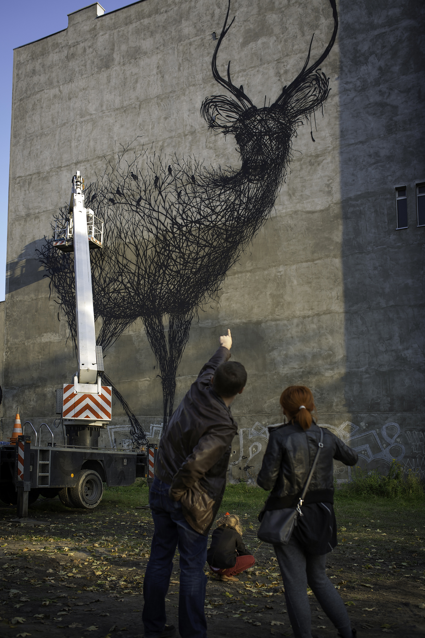 Street Art by DALEAST in Lodz, Poland in for Galeria Urban Forms project 5