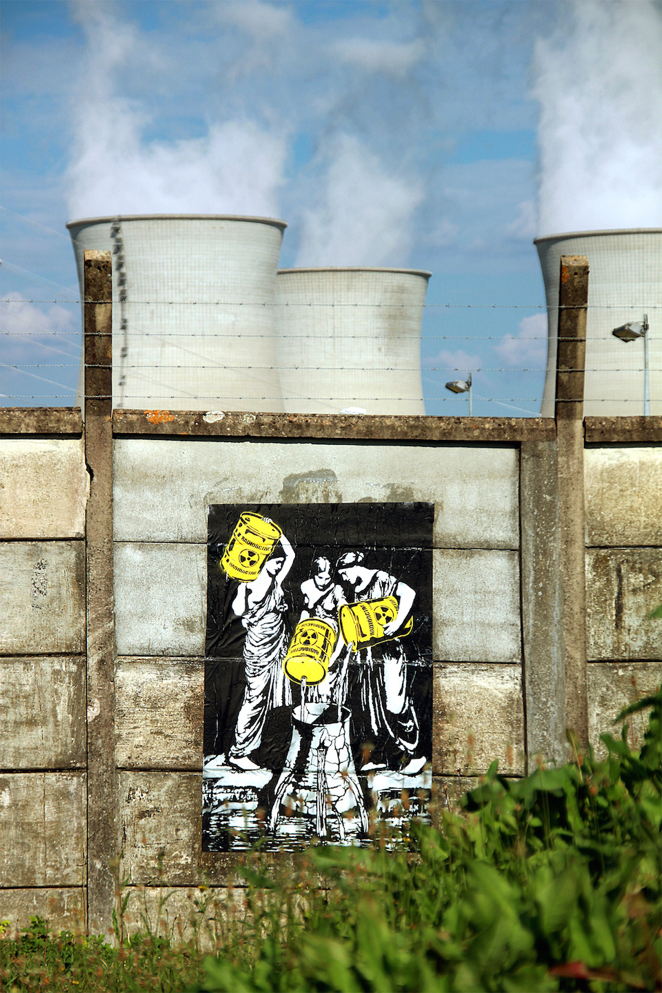 Street Art by Goin at Bugey Nuclear Power Plant, France - Fukushima danaïds 1