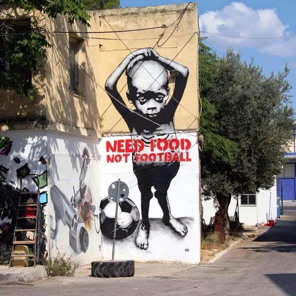 Street Art by Going in São Paulo, Brazil - Need food not football
