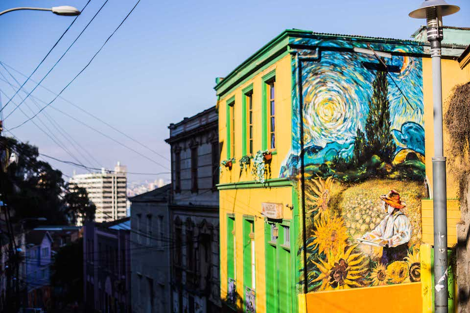 Van Gough - Street Art in Valparaíso, Chile