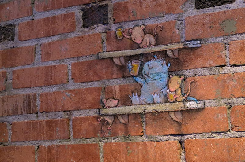 Calk Art by David Zinn in Michigan, USA 0543965