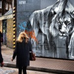Stare down – Street Art by Faith47 in Brick Lane, London, England