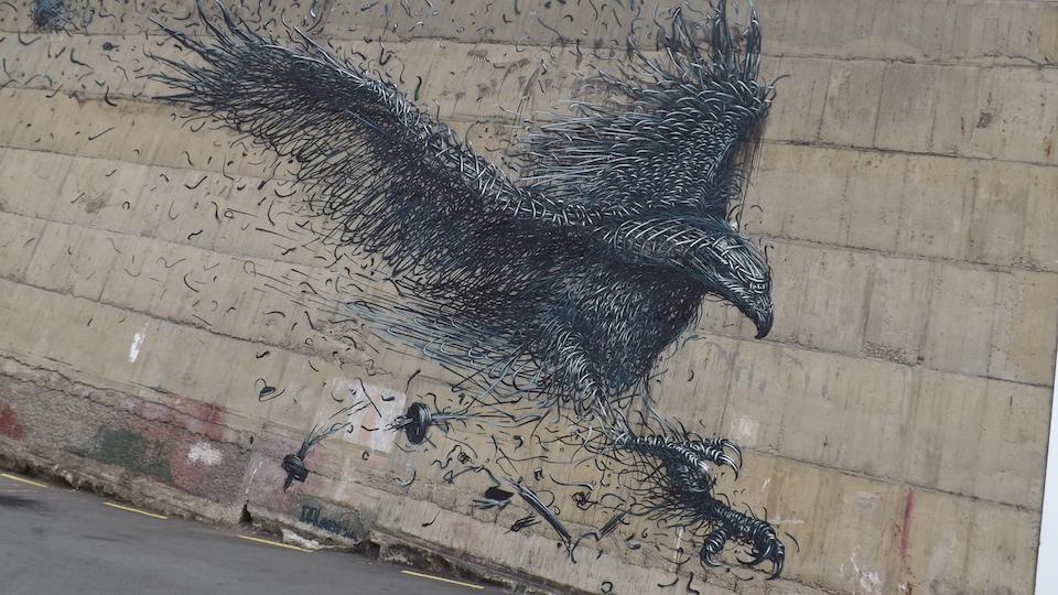 Street Art by DALeast at Stafford Street in Birmingham, United Kingdom 1