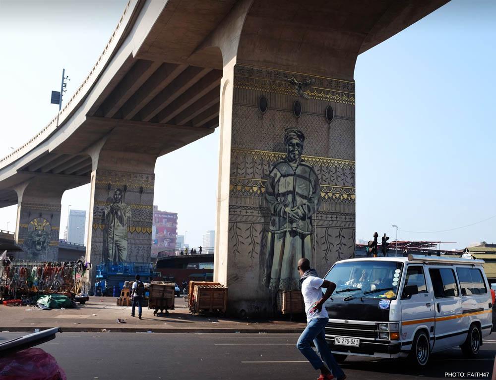 Street Art by Fait47 in Durban, South Africa 4