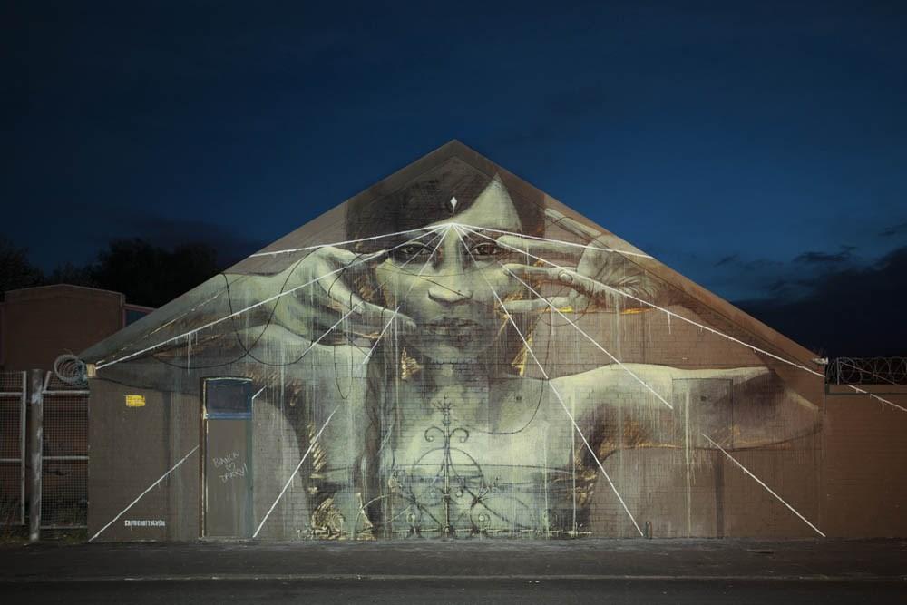 Street Art by Faith47 in Glasgow, Scotland
