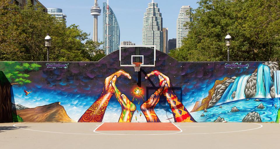 Mural in David Crombie Park, Toronto, ON, Canada 2