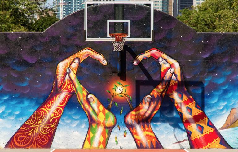 Murals in David Crombie Park, Toronto, ON, Canada