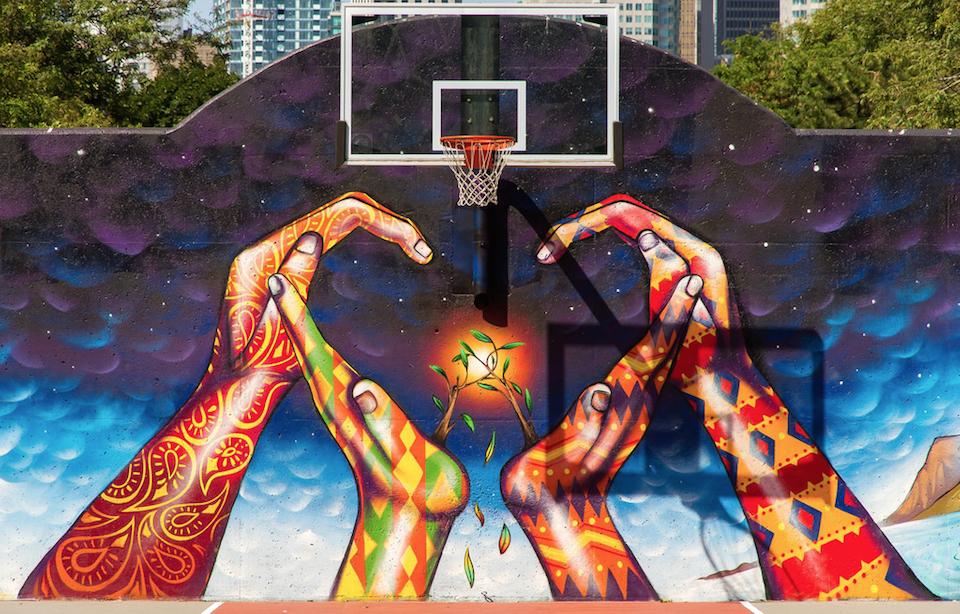 Mural in David Crombie Park, Toronto, ON, Canada 3