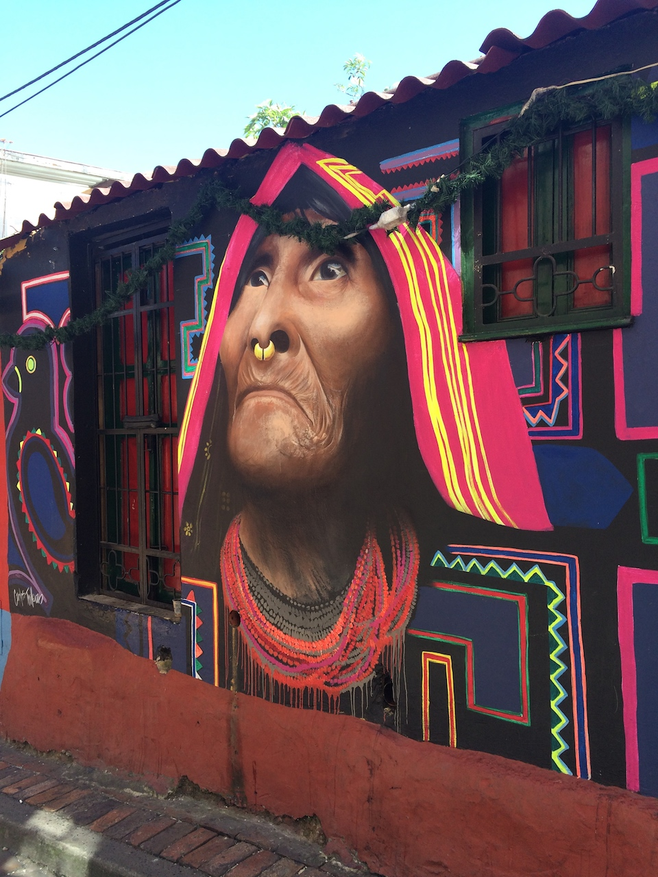 Street Art at Chorro de Quevedo in Bogotá, Colombia