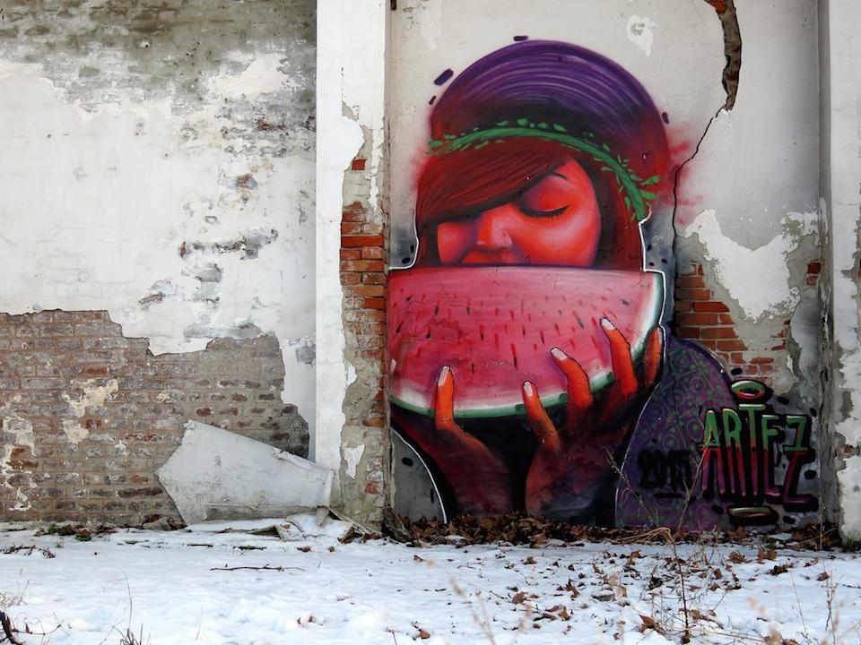 Street Art by Artez in Belgrade, Serbia