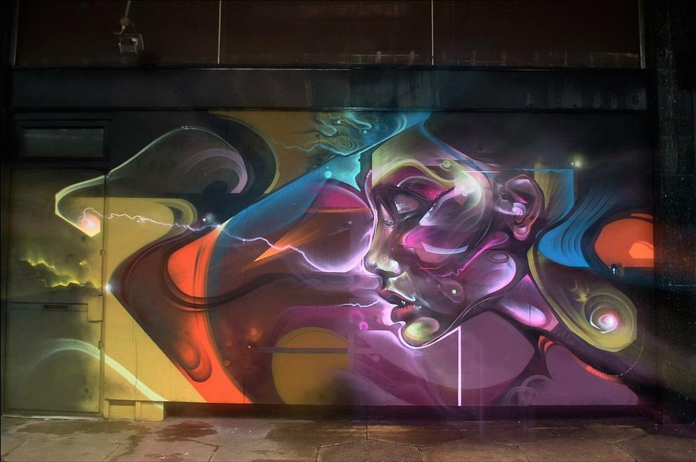 Street Art by Cenz in Croydon, London, UK