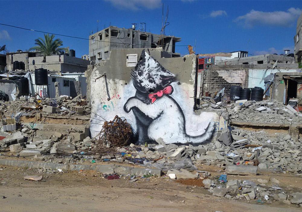 Street Art by Banksy in Gaza, Palestine 1