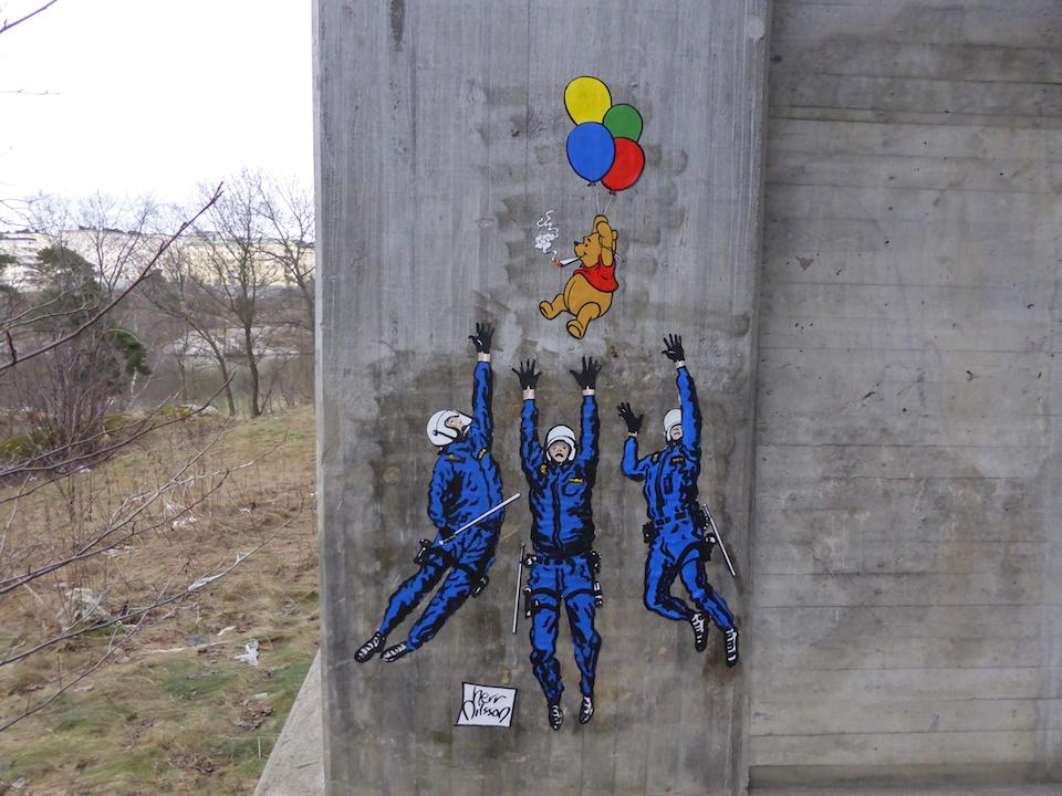 Street Art by Herr Nilsson in Stockholm, Sweden 1