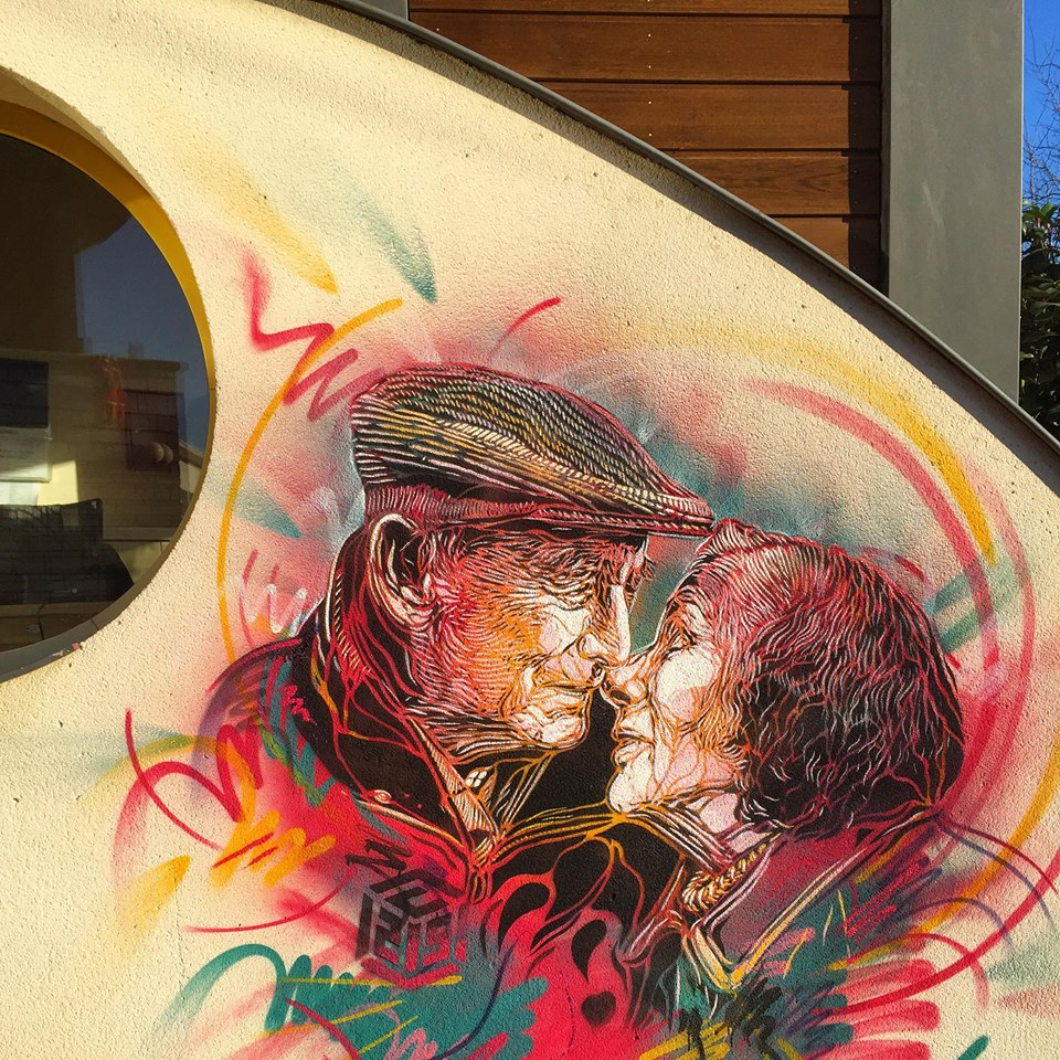 Street Art by C215 in Fontenay-aux-Roses, France