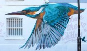Street Art Bird by Will Vibes in London, England