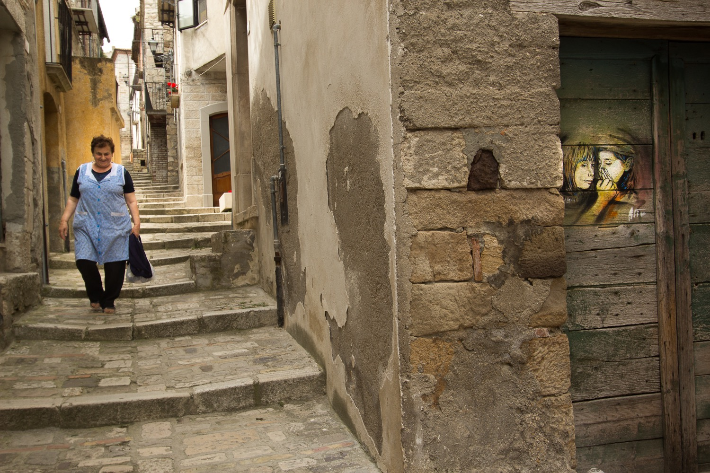 Street Art by Alice Pasquini in Civitacampomarano, Molise, Italy. Photo by Jessica Stewart 4