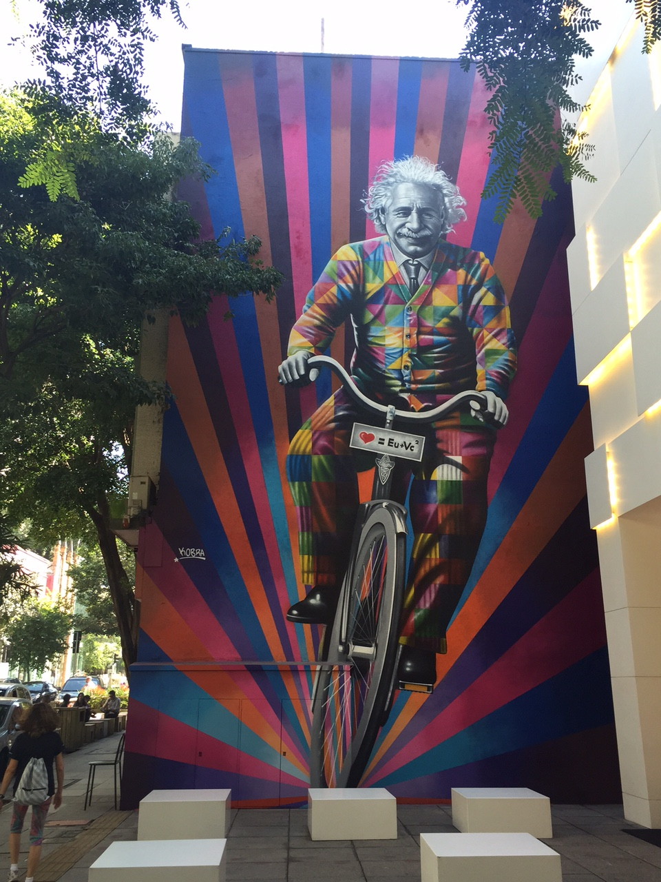 Genial is riding a bike - By Kobra in São Paulo, Brazil