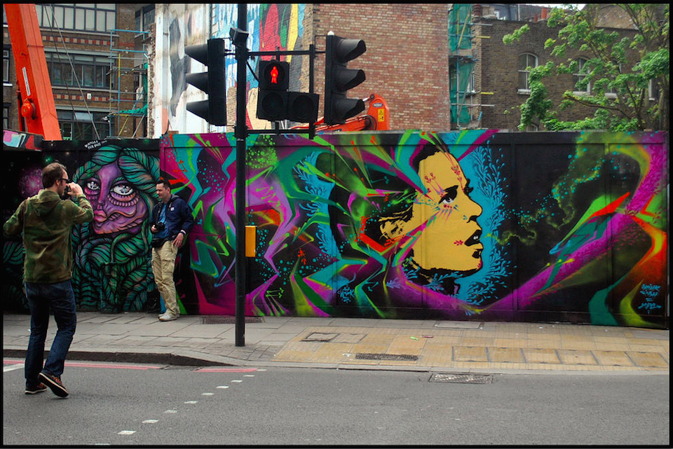 Street Art by Stinkfish in London, England 3