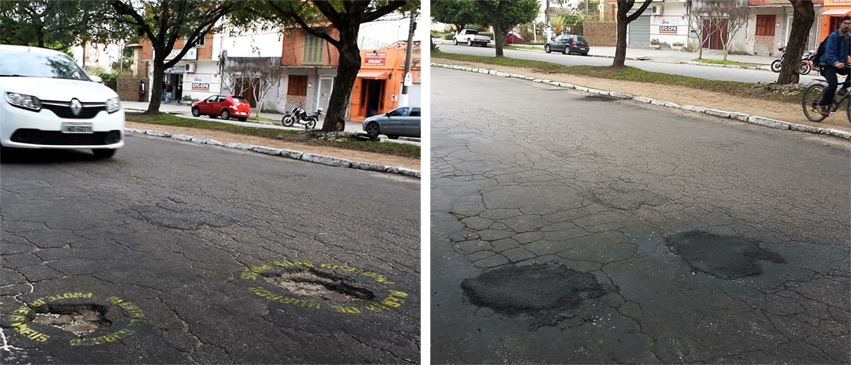 Hole Alert - Protect your tires. In Brazil 3