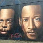 Smif n wessun spray on wall Brooklyn NY 2
