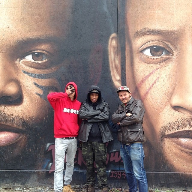 Smif n wessun spray on wall Brooklyn NY
