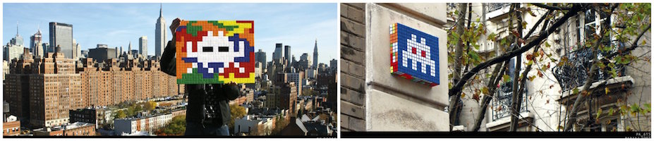 Space Invader Collage