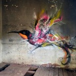 Street Art Bird by L7m in Brazil 2015