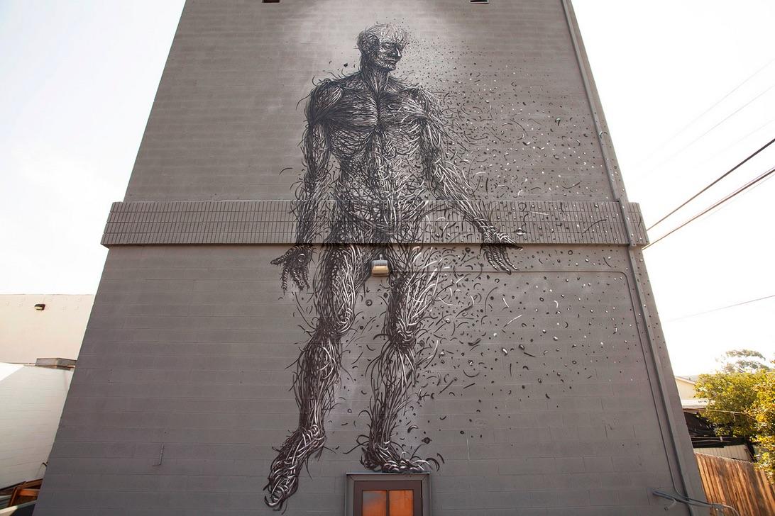 Street Art by DALeast in San Diego, USA 1 - Abhassara mote