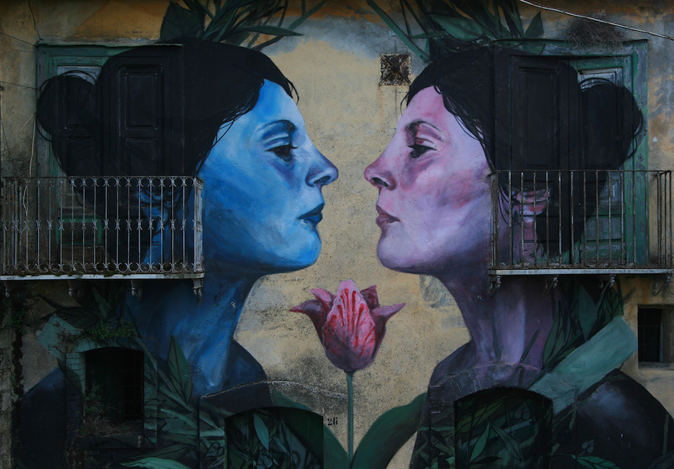 Street Art by Francisco Bosoletti in Bonito, Avellino, Italy 2