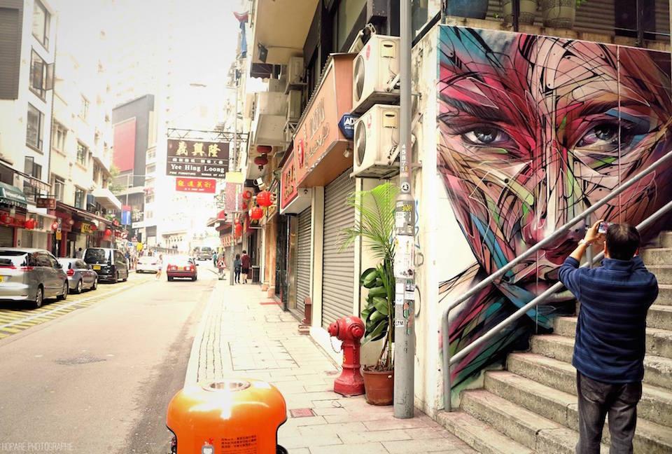 Street Art by Hopare at Hollywood Road in Hongkong 2015 36