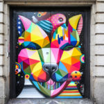 Street Art by Okuda in Soho, New York, USA 2015 433