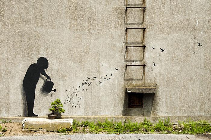 Street Art by Pejac - In Tokyo, Asia 2