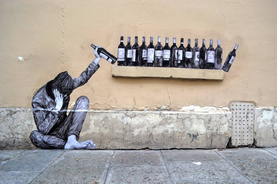 One too many - By Levalet in Paris, France 1