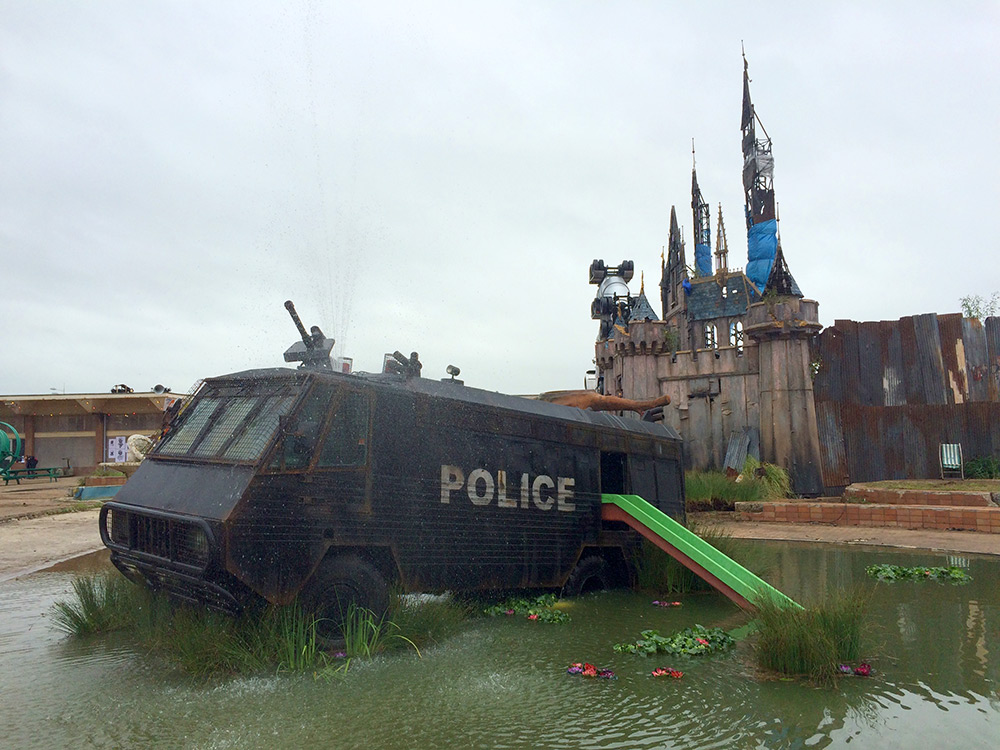 Street Art by Banksy and other artists in London, England - Dismaland 1